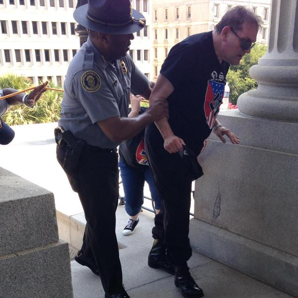Officer Leroy Smith and KKK member Courtesy: Rob Godfrey